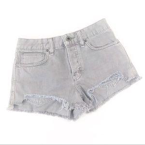Free people gray high rise distressed shorts